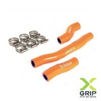 Set furtune radiator KTM 2T 250/300 2020 / Husqvarna 2T 250/300 2020 orange X-GRIP XG-2223