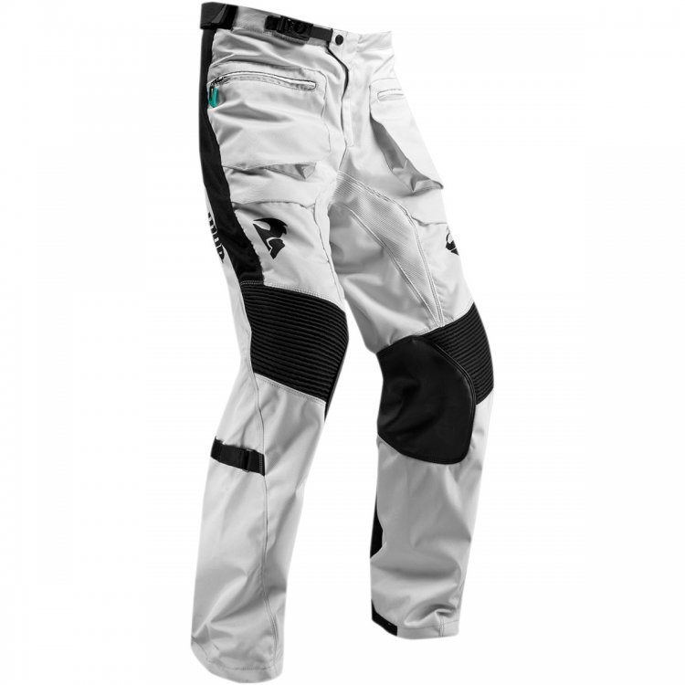 Pantaloni Enduro Thor Terrain Gear S9 Over The Boot Light Gray/black